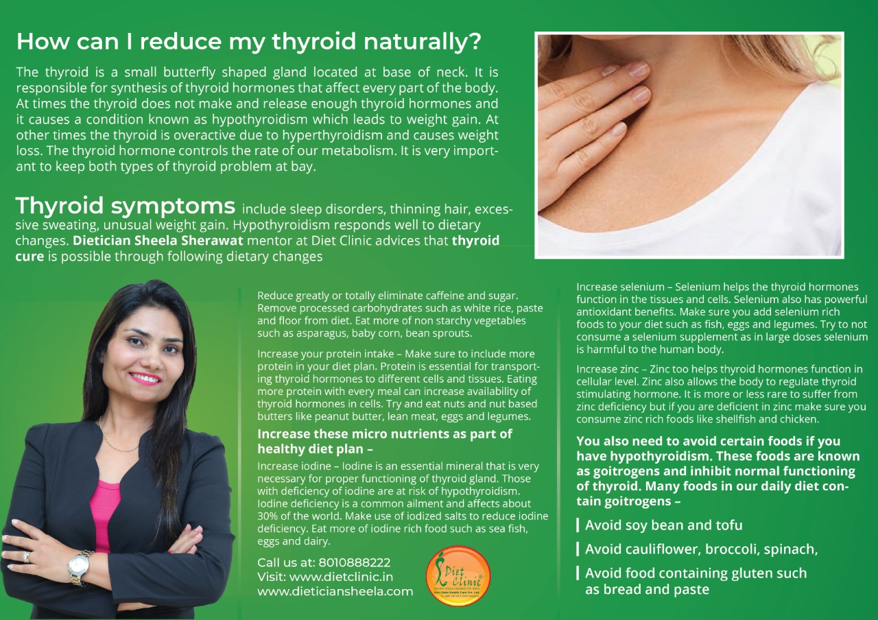 How can I reduce my thyroid naturally